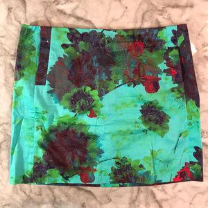 J. Crew Printed Cotton Sateen Mini Skirt